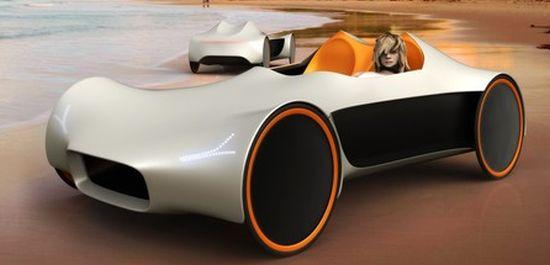 Koncept velomobilu, který by měl být vyroben ze Softshellu