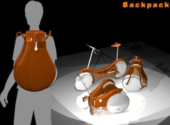 Backpack Bicycle: Zabalte si kolo do batůžku