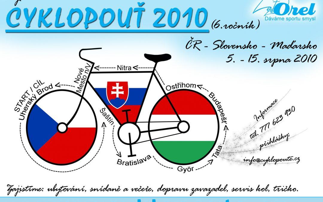 Cyklopouť 2010: CZ – SK – HU