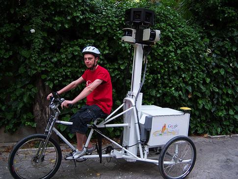 Google tříkolka na Street View