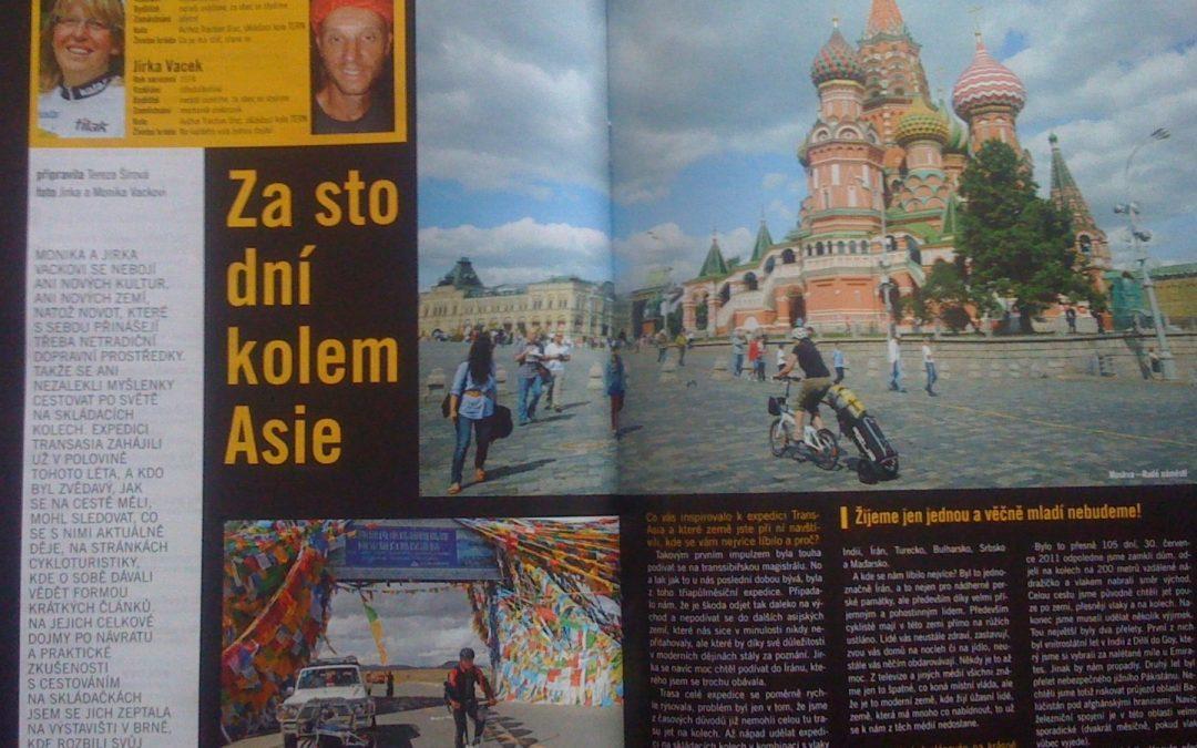 Rozhovor s Vackovými o cestě se skládacími koly Trans Asia 2011