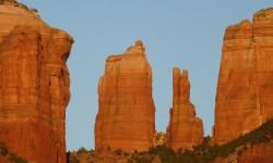 zapad slunce na Cathedral Rock