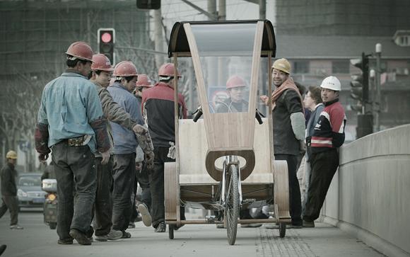 Šanghajská bambusová tříkolka