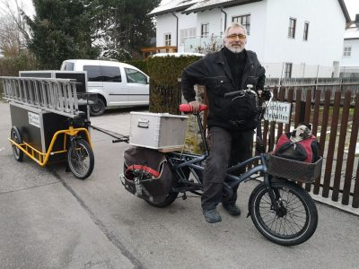 nákladní elektrokolo Tern s vozíkem Carla Cargo