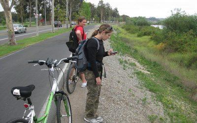 Geocaching na kole