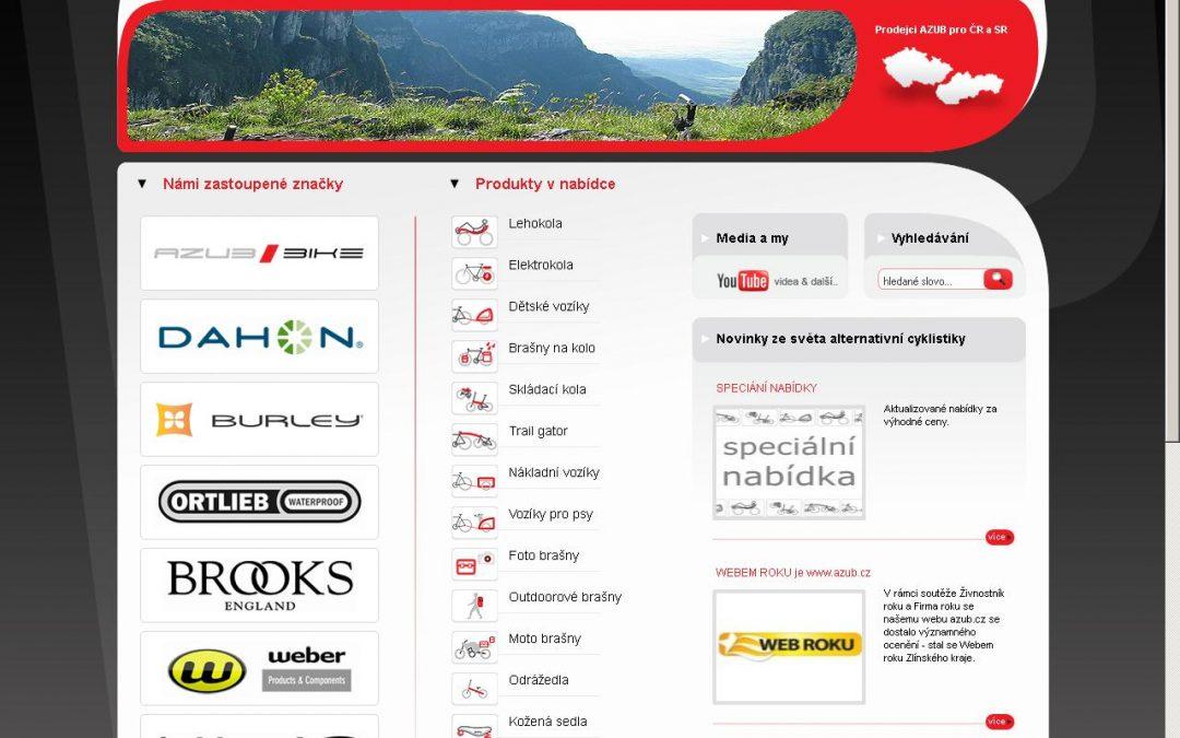 Společnost AZUB Bike slaví úspěchy:  získala ocenění Web roku 2011 Zlínského kraje