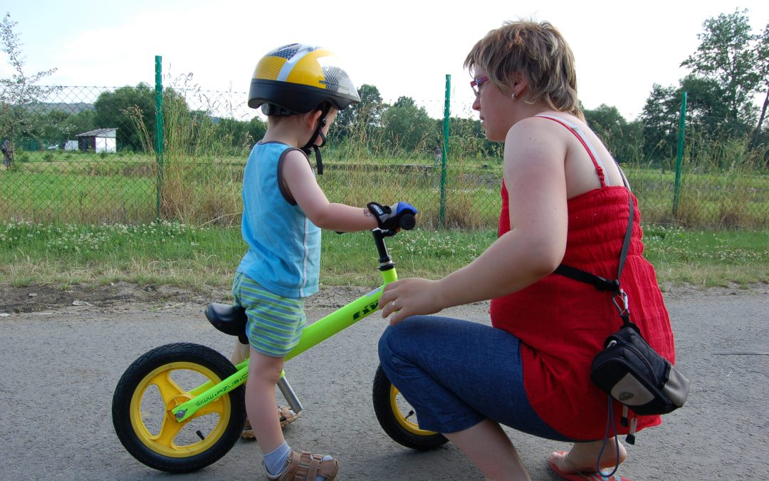 Na kole s dětmi