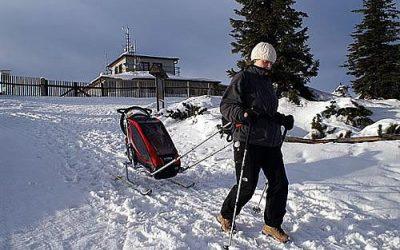Dětské vozíky v zimě