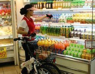 Skládací kolo jako nákupní košík