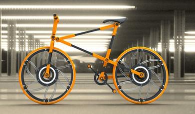 Collapsible Bicycle: skládací kolo se skládacími koly