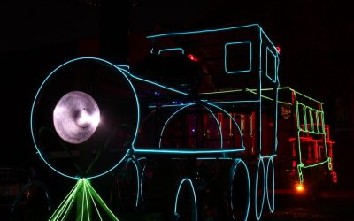 Světelný vlak z leho tříkolky