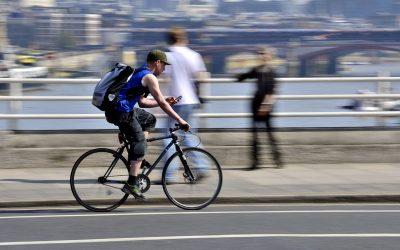 Fotka do soutěže – cyklista v Londýně