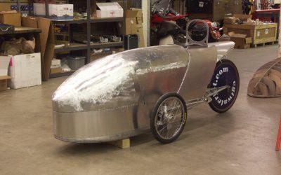 Hliníkový velomobil